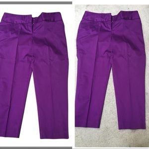 EUC Purple Capri pants